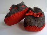 Red bow toddlers slippers