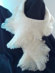 Frilly scarf, wet felted