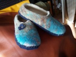 Blue Ladies Slippers